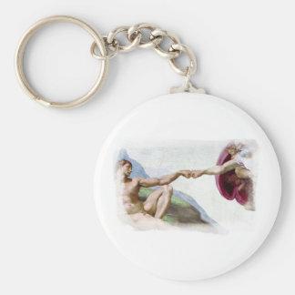 Michelangelo Creation Of Man Fist Bump Key Chains