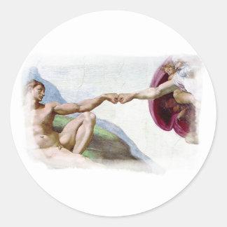 Michelangelo Creation Of Man Fist Bump Stickers