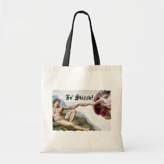 Michelangelo Creation Of Man Fo Shizzle Fist Bump Tote Bag