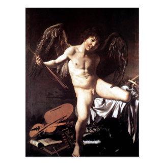 Michelangelo da Caravaggio Amor als Sieger um 1600 Postcard