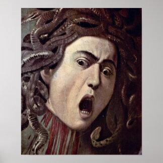 Michelangelo da Caravaggio - The head of Medusa Print