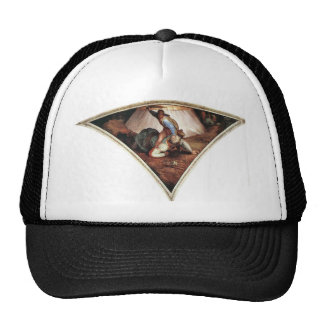 Michelangelo David and Goliath Trucker Hats