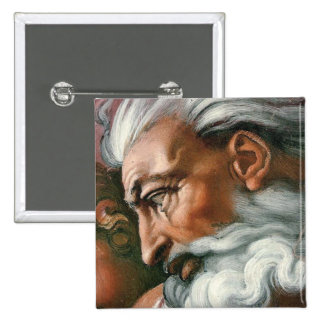 Michelangelo God in the Creation of Adam Pinback Button