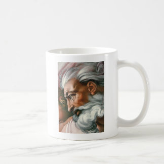 Michelangelo God in the Creation of Adam Basic White Mug
