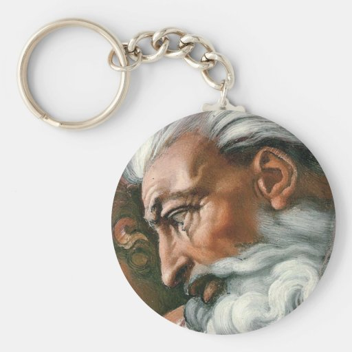 Michelangelo God in the Creation of Adam Key Chains
