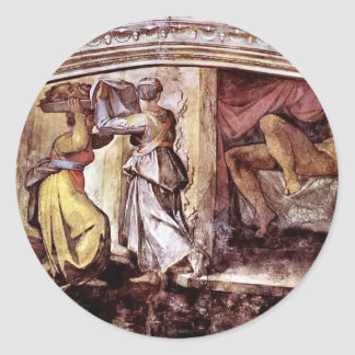 Michelangelo:Judith Carrying Head of Holofernes Round Stickers