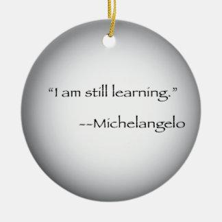 Michelangelo quote christmas ornament