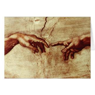 Michelangelo Sistene Chapel Blank Card