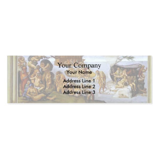 Michelangelo: Sistine Chapel Ceiling: The Flood Business Card