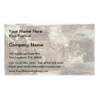 Michelangelo: Sistine Chapel Ceiling: The Flood Pack Of Standard Business Cards