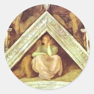 Michelangelo: The Ancestors of Christ: Jesse Round Stickers
