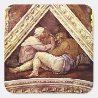 Michelangelo: The Ancestors of Christ: Josias Square Stickers