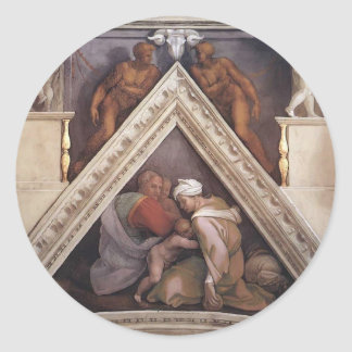 Michelangelo: The Ancestors of Christ: Ozias Stickers