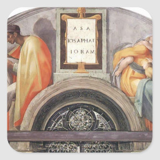 Michelangelo: The Ancestors of Christ Square Stickers