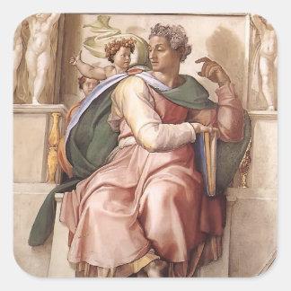 Michelangelo: The Prophet Isaiah Square Sticker
