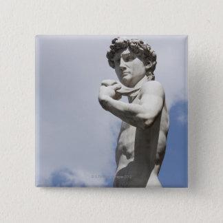 Michelangelo's David in the Piazza della 3 15 Cm Square Badge