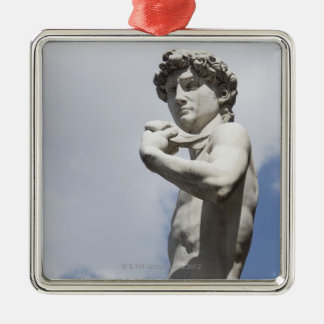 Michelangelo's David in the Piazza della 3 Christmas Ornament