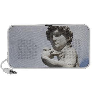 Michelangelo's David in the Piazza della 3 Portable Speaker