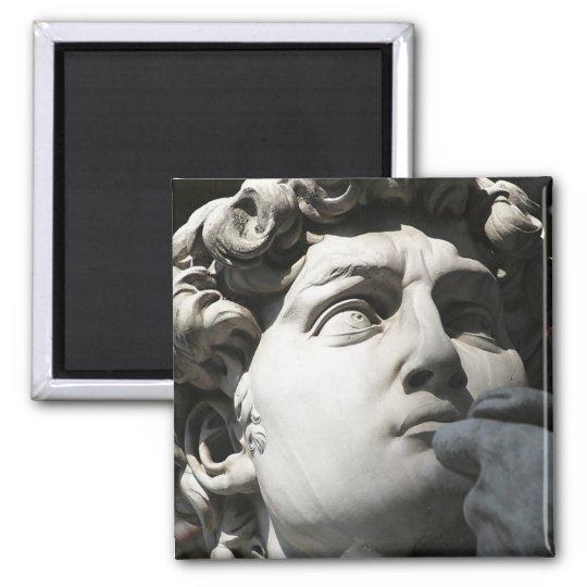 Michelangelo's David Square Magnet