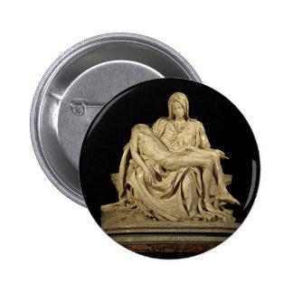 Michelangelo's Pieta 6 Cm Round Badge