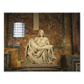 Michelangelo's Pieta in St. Peter's Basilica Art Photo