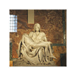 Michelangelo's Pieta in St. Peter's Basilica Gallery Wrap Canvas