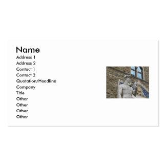 Michelangelo's Sculpture - Renaissance Sculpture Pack Of Standard Business Cards