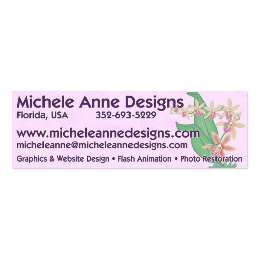 Michele Anne Designs Pack Of Skinny Business Cards