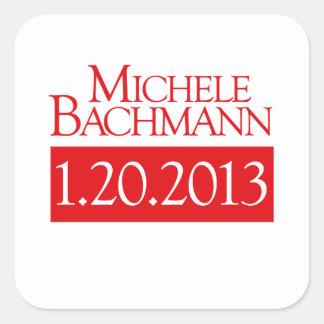 MICHELE BACHMANN 1-20-2013  SQUARE STICKER