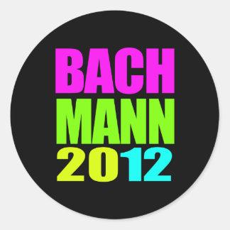 MICHELE BACHMANN 2012 NEON ROUND STICKER