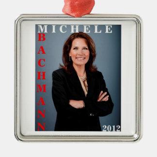 Michele Bachmann 2012 Ornament Silver-Colored Square Ornament