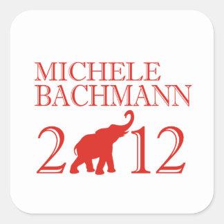 MICHELE BACHMANN 2012 (Repu Square Sticker