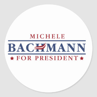 Michele Bachmann 2012 Round Stickers