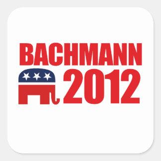 MICHELE BACHMANN 2012 SQUARE STICKER