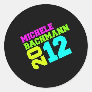 MICHELE BACHMANN 2012 SWAY  ROUND STICKER