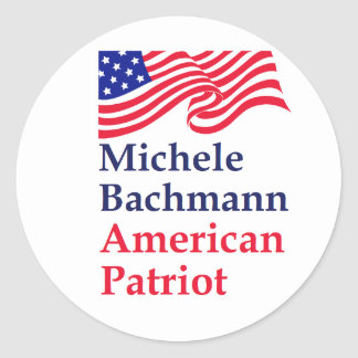 Michele Bachmann American Patriot Round Sticker