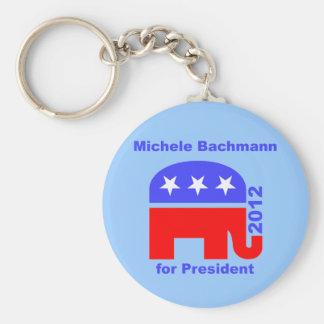 Michele Bachmann Basic Round Button Key Ring