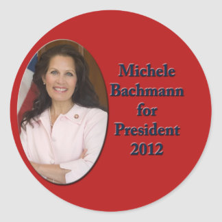 Michele Bachmann for President 2012 Round Sticker