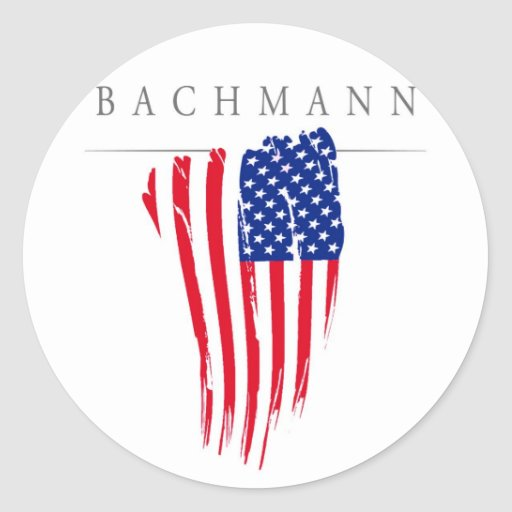 Michele Bachmann for President 2012 Round Stickers