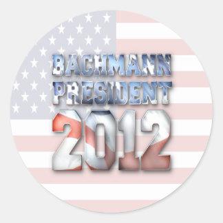 Michele Bachmann for President in 2012 Round Sticker