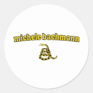 Michele Bachmann Gadsden Snake Round Sticker