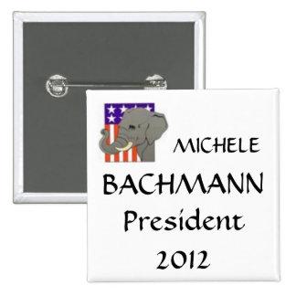 MICHELE, BACHMANN, President 2012 15 Cm Square Badge