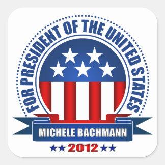Michele Bachmann Square Stickers