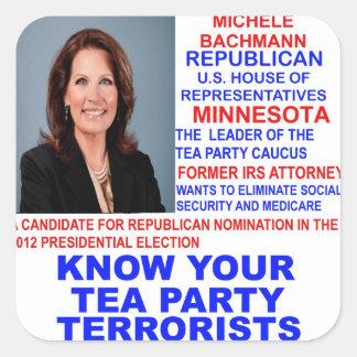 Michele Bachmann, Tea Party Terrorist Sticker