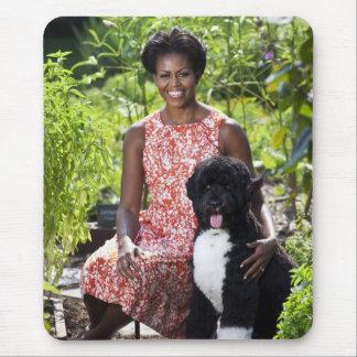 Michele & Bo Obama Mousepad
