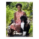 Michele & Bo Obama Postcard