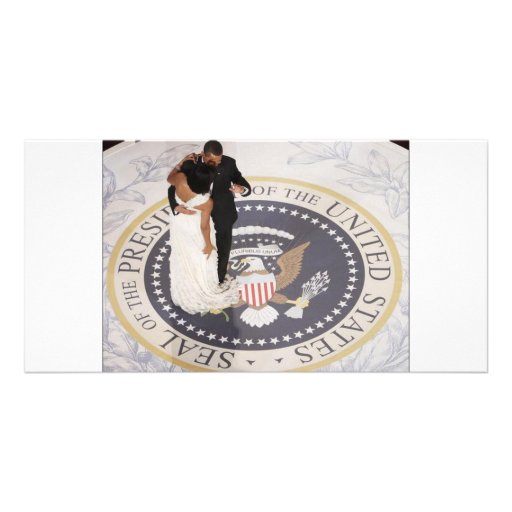 Michelle and Barack Obama Photo Card