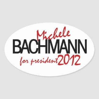 Michelle Bachmann 2012 Oval Sticker