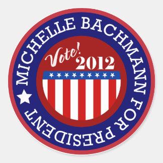 Michelle Bachmann for President 2012 Round Sticker
