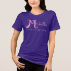 Michelle girls M name meaning monogram t-shirt